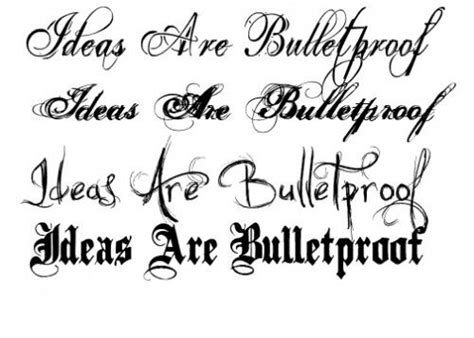 tattoo fonts vertically generator fancy lettering styles letter type tattoos