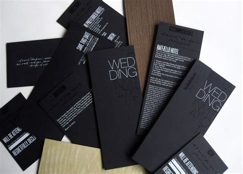 invitation card modern design modern foil st wedding invitations