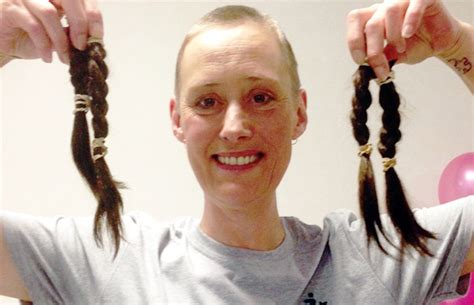 woman shaving her head burntwood woman shaves her head to raise money for charity