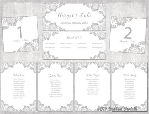 Free Wedding Table Plan Template