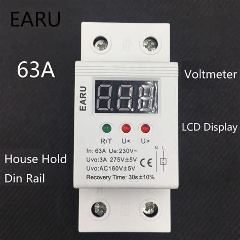 Protector Auto Recovery Mcb Din Rail Voltage 230v 40a מפסקי פשוט לקנות באלי אקספרס בעברית זיפי