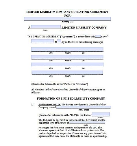 23 Llc Operating Agreement Template Llc Member Loan Agreement Template