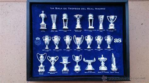 imagenes de trofeos del real madrid colecci 243 n copas trofeos miniatura real madrid d comprar