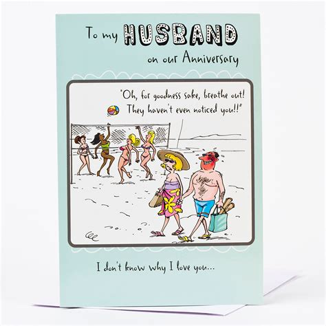 cards husband anniversary card to my husband only 89p