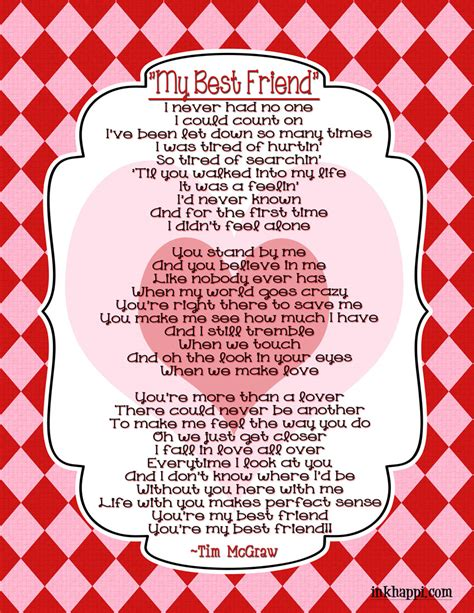 printable lyrics to gift of a friend by demi lovato my bff and a sweet sentimental gift idea inkhappi