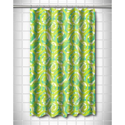 lime shower curtain island girl swirls lime shower curtain