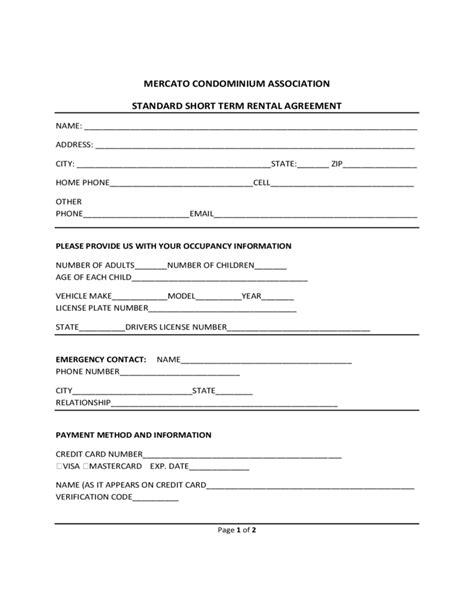 printable short term lease agreement free rental agreement template generic template rental
