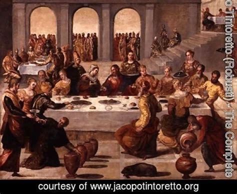 Wedding At Cana Tintoretto by Jacopo Tintoretto Robusti The Complete Works The