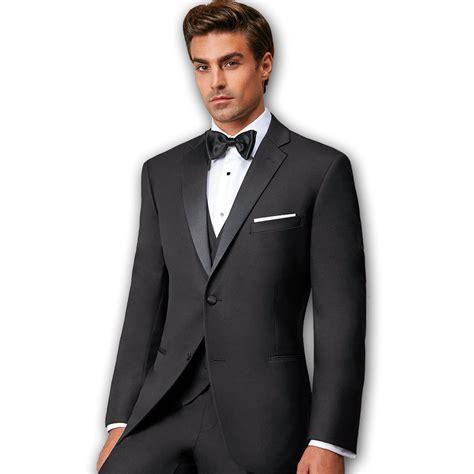 Tuxedo Black slim fit tuxedo black notch lapel two button wedding