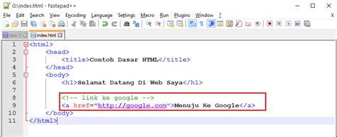tutorial html adalah web programing part 2 tutorial html untuk pemula bahasa