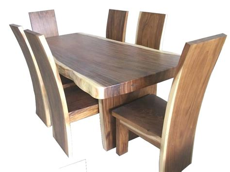 solid wood dining chairs toronto one solid wood slab chair suar acacia for sale