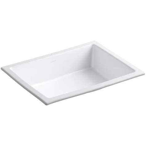lowes rectangular undermount shop kohler verticyl white undermount rectangular bathroom