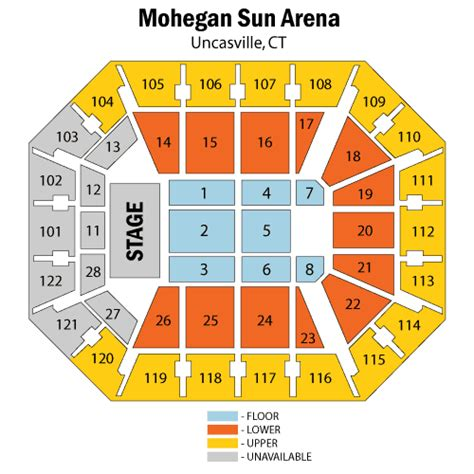 mohegan sun arena floor plan mohegan sun arena map my blog