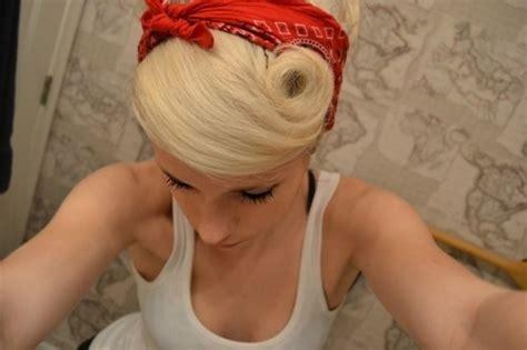 pin curl bangs swoop bang with a pinup curl bandana hair and beauty