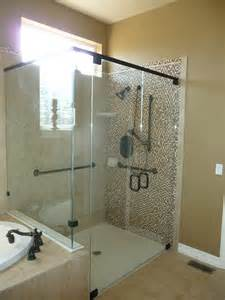 european style shower door style bathroom with glass doors castle rock co