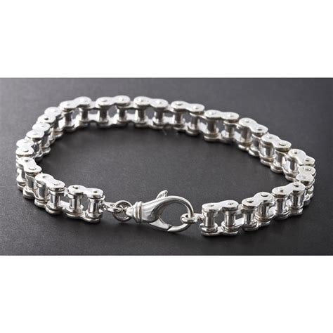how to make chain jewelry s wildthings 9 quot sterling silver bike chain bracelet