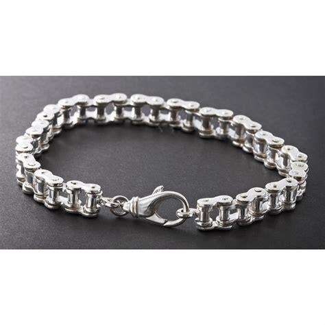 """Men's Wildthings 9"""" Sterling Silver Bike Chain Bracelet   130131, Jewelry at Sportsman's Guide"""