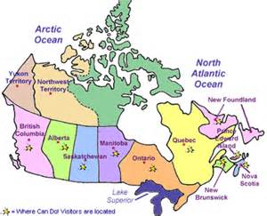 labeled map of canada map of labeled cities of europe