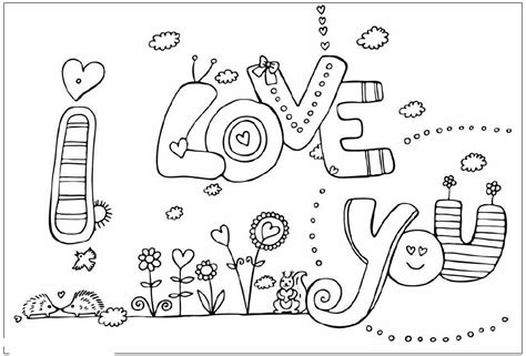 Printable Coloring Pages I Love You | i love you coloring pages