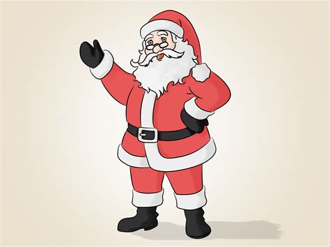 how to make pictures of santa claus and christmas tree how to draw santa claus 14 steps with pictures wikihow