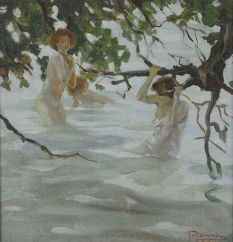 donne al bagno tolenghi donne al bagno 1927 olio su faesite asta
