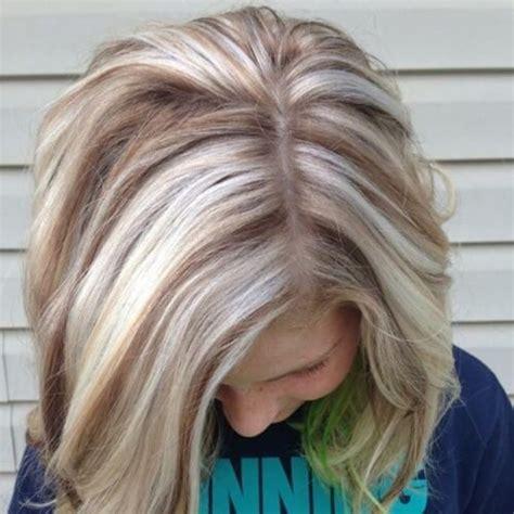 reverse blonde haare mit braunen straehnen haareco