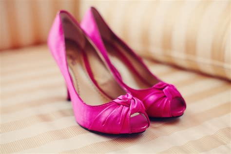 Pink Wedding Shoes by Bright Modern Pink Orange Wedding Part 1 Every Last