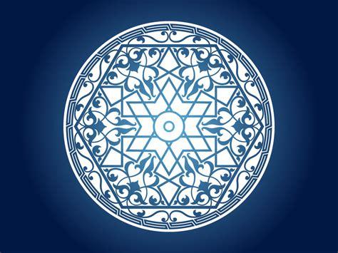 islamic pattern circle vector islamic circle pattern