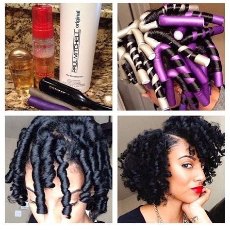 best curling rods for short hair video flexi rod tutorial on transitioning or relaxed hair