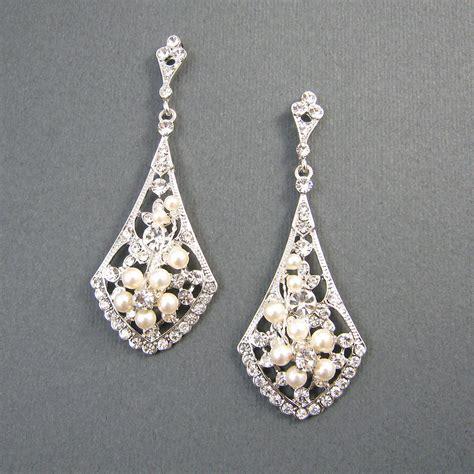 Ohrringe Hochzeit Vintage by Vintage Style Bridal Earrings Ivory Pearl Wedding Earrings