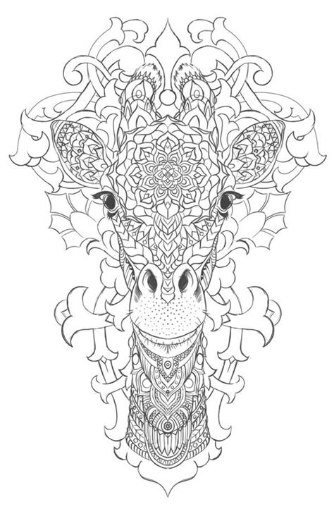 giraffe mandala coloring pages giraffe on behance coloring pages pinterest