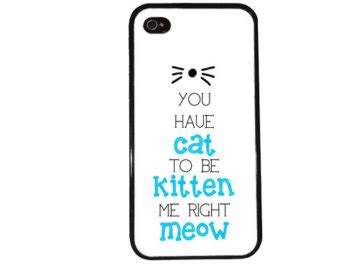 Iphone 4 4s Meow Cat Uniq popular items for iphone 5 on etsy