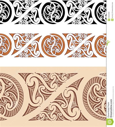 maori styled seamless pattern stock photo image 23563890