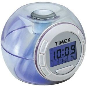 timex t035w nature sounds color changing battery powered alarm clock ebay
