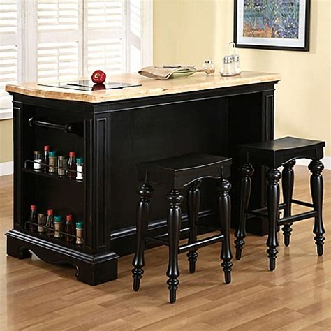 Pennfield Kitchen Island Buy Pennfield Kitchen Island With Stool From Bed Bath Beyond