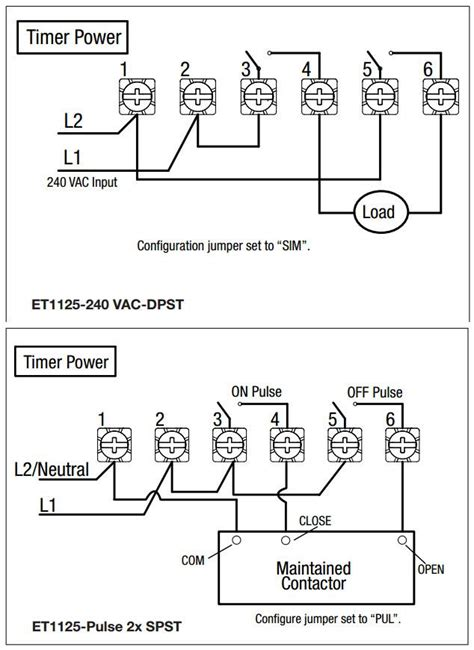 intermatic wiring diagram intermatic et1105c 24 hour electronic time switch ebay