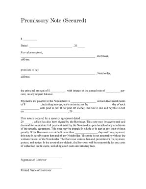 promissory note template arizona promissory note pdf form fill printable fillable