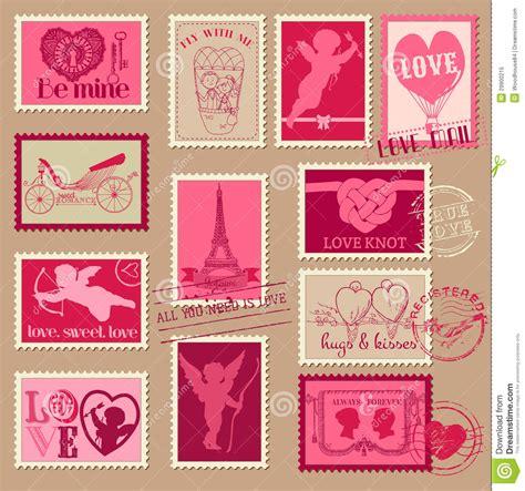 libro amor love vintage sellos de la tarjeta del d 237 a de san valent 237 n del amor del vintage ilustraci 243 n del vector