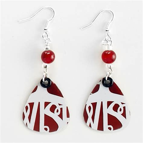 Recycled Gift Cards - recycled gift card earrings