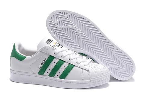 adidas originals superstar white green unisex sneakers casual shoes s83385 sneakers big sale