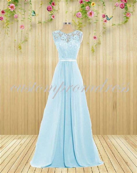 lace light blue bridesmaid dresses best 25 blue lace prom dress ideas on