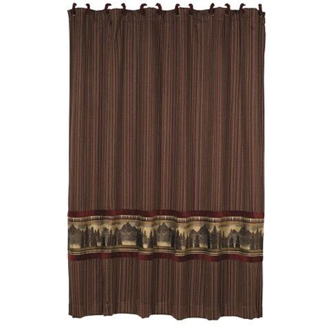 lodge curtains briarcliff rustic lodge shower curtain