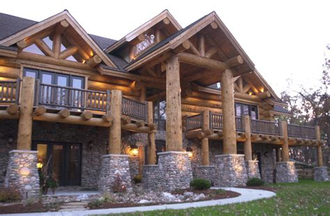 Handcrafted Log Homes - crafted log homes montana custom log homes