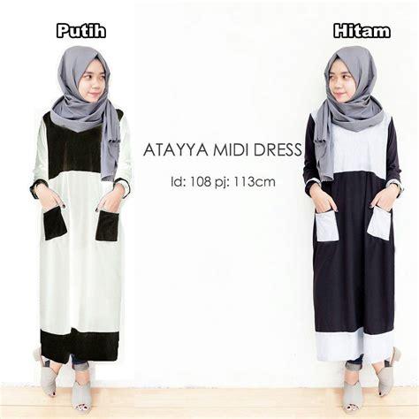 Jual Atasan Murah Grosir Atasan Murah Ruma Pearl C05 jual harga atayya midi dress grosir atasan muslimah baju wanita murah zero2fifty