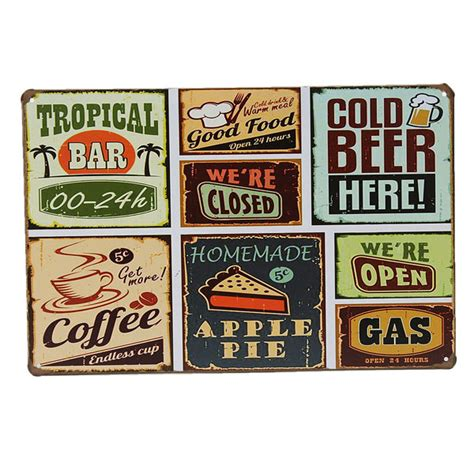 wall decor signs for home tin sign vintage retro metal plaque poster bar pub home