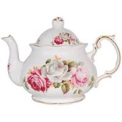 summer bloom bone china teapot 4 cup
