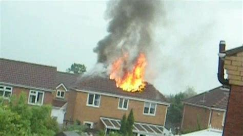 house catches on fire heanor house catches fire after lightning strike bbc news