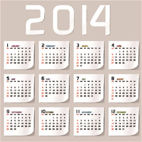 design calendar simple simple 2014 calendar design vector set 02 vector