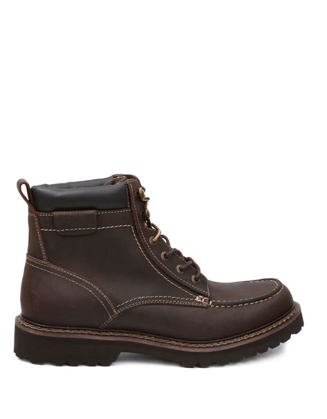 leather boots lyst g h bass co errol leather boots in brown for