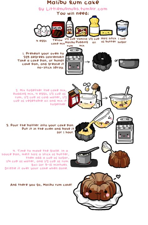 doodlebug recipe malibu rum cake by nub nubs on deviantart
